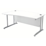 FF Arista 1600mm Wave Desk Lh White