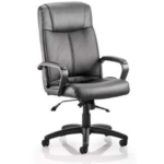 Buxton Executive Black Leather Chair