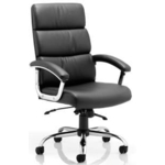 Mercury Executive Leather Chair with arms and headrest