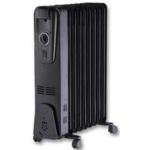 Oil Filled Radiator Black 2000W
