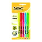 Bic Brite Liner Highlighter Astd P5