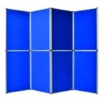 Bi-Office Blue 6 Panel Display Kit