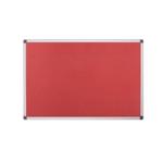 Bi-Office Red Felt 900x600mm Board