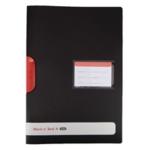 Black n Red Clip File A4 Pk5