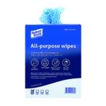 Blue Antibacterial Cloth Box Pk200