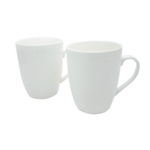 White 12oz Squat Mugs Pk12