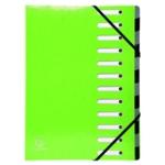 Exacompta Iderama 12Pt File A4 Lime