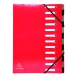 Exacompta Iderama 12-Prt File A4 Red