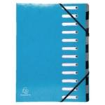 Exacompta Iderama 12Pt File A4 Light Blu