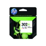 HP 302XL Cyan/Magenta/Yellow Ink F6U67AE
