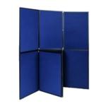 Q-Connect 7 Panel Blu Grey Display Board