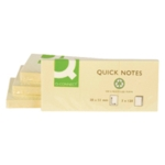 Q-Connect Quick Notes Rcyld 38x51mm Pk12