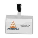 Announce Security Name Badge 60X90 Pk25