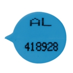GoSecure Numbered Round Seal Blue P500