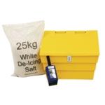 50 Ltr Lockable Grit Bin / 25kg Salt Kit