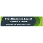 Banner Paper 1200mmx297mm 160gsm