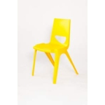 Chevron One Piece Classroom Chair 430mmH Banana Yellow