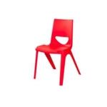 Chevron One Piece Classroom Chair 430mmH Cherry Red