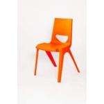 Chevron One Piece Classroom Chair 430mmH Mandarin Orange