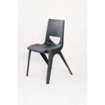 Chevron One Piece Classroom Chair 430mmH Night Grey