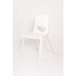 Chevron One Piece Classroom Chair 430mmH Pure White