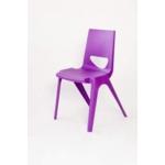 Chevron One Piece Classroom Chair 430mmH Velvet Purple