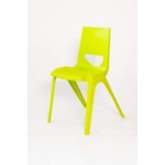 Chevron One Piece Classroom Chair 460mmH Lime Green