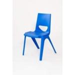 Chevron One Piece Classroom Chair 460mmH Royal Blue