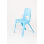 Chevron One Piece Classroom Chair 460mmH Sky Blue