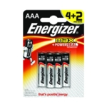 Energizer MAX E92 AAA Batteries 4 Plus 2
