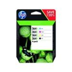 HP 364XL Bk/Cy/Mg/Yw Ink Combo N9J73AE