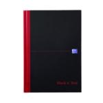 Black n Red A5 Single Cash Book Pk5