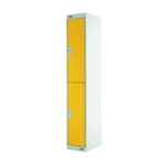 Two Compartment Locker 300 Yellow