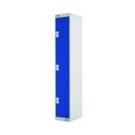 FF DD 3Door Lockr 300X300X1800 Blue Door