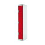 FF DD 3Door Locker 300X300X1800 Red Door
