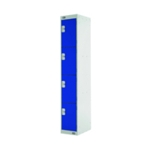 Four Compartment Locker 300 Blue