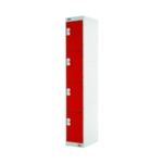 Four Compartment Locker 300 Red
