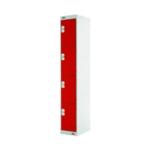 FF DD 4Door Locker 300X300X1800 Red Door