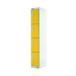 Four Compartment Locker 300 Yellow