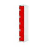 FF DD 5Door Locker 300X300X1800 Red Door