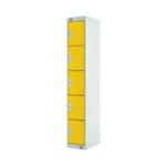 Five Compartment Locker 300 Yellow