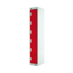 Six Compartment Locker 300 Red