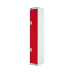 Two Compartment Locker 450 Red