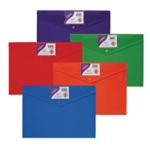 Snopake Polyfile ID Wallet A4 Rainbow P5