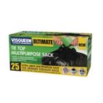 Visqueen Black Tie Top Multipurpose Sack