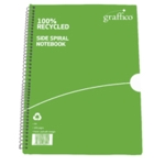 Graffico Recycled Wirebound Notebook A4