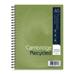 Cambridge Recycled Notebook A5 Plus Pk3