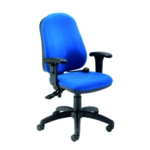 FF INTRO POSTURE CHAIR WITH ARMS BLUE
