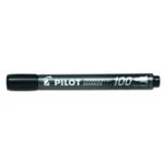 Pilot 100 Bullet Tip Marker Black Pk20