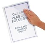Economy Clear Cut Flush Folders Pk100 WX24002